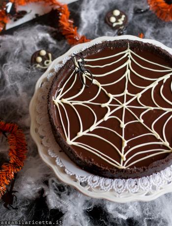 torta al cioccolato senza cottura per hallowen