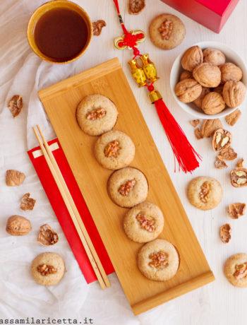 biscotti cinesi alle noci senza burro senza uova