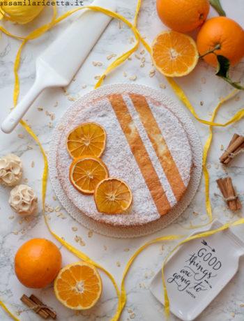 torta di albumi all'arancia senza burro e olio