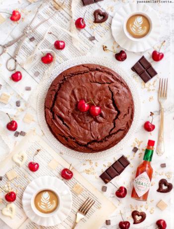 torta al cioccolato fondente e tabasco senza burro